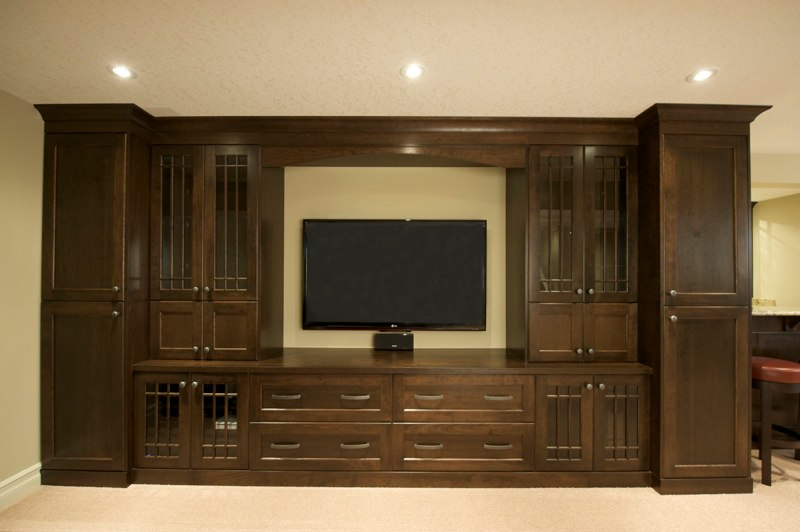 Bar and Den Cabinets