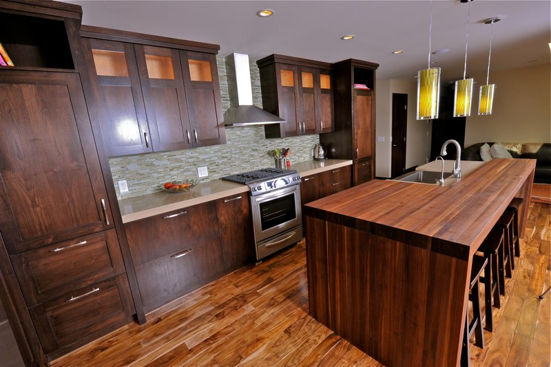 Custom Kitchen Cabinets Calgary - Evolve Kitchens - Recycled Wood