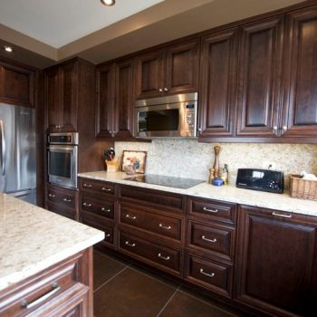 Calgary Custom Dark Oak and Marble Kitchen