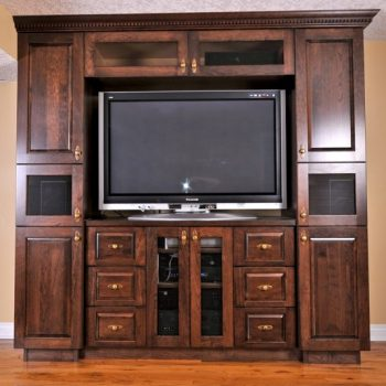 Calgary Custom Dark Oak Entertainment Unit