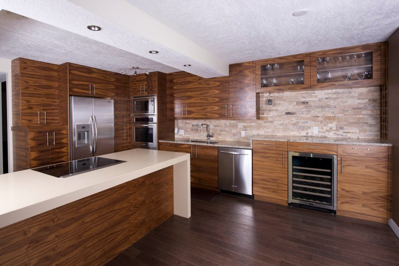 Kitchen contemporary kitchen calgary by dovecote kitchen for Kitchen cabinets calgary