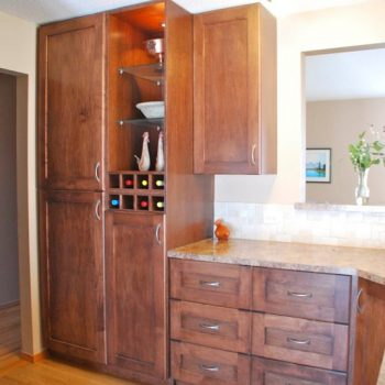Calgary Custom Kitchen Cabinets and Wine Rack