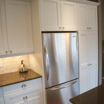 Calgary Custom Kitchen stainless white