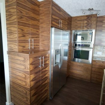 Calgary Custom Kitchen textured wood