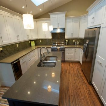 Calgary Custom Kitchen White Cabinets
