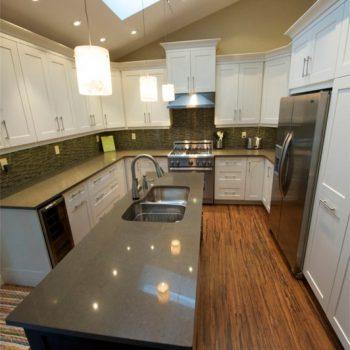 Calgary Custom Kitchen White Cabinets
