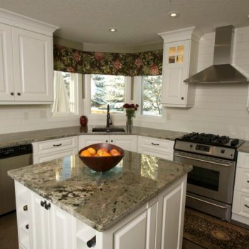 Calgary Custom White Kitchen Cabinets