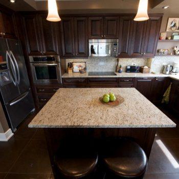 Calgary Dark Oak Custom Kitchen and Cabinets