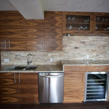 Calgary Kitchen with textured wood