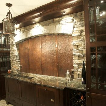 Custom Calgary Bar with Copper and Marble