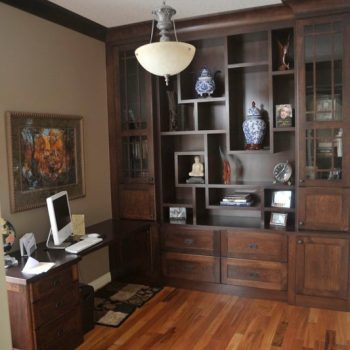 Custom Calgary Dark Oak Office