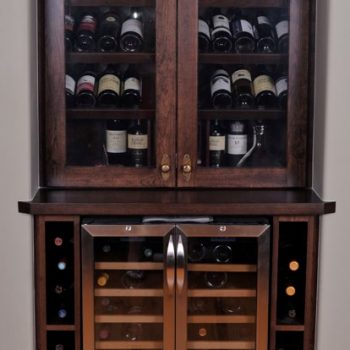 Custom Calgary Dark Oak Wine Rack