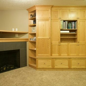 Custom Calgary Fireplace and Cabinets