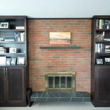 Custom Calgary Fireplace Cabinets After