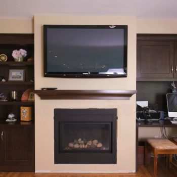 Custom Calgary Fireplace Cabinets Before
