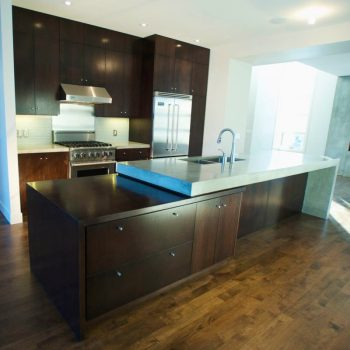 Custom Kitchen Calgary Marble and Dark Oak