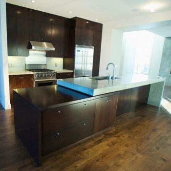 Custom Kitchen Calgary Marble and Dark Oak