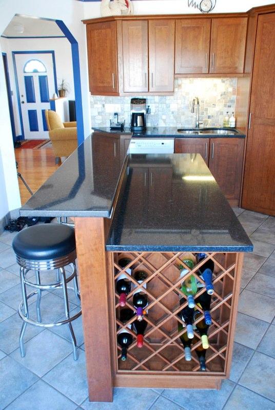 Addington Kitchen · Custom Kitchen Island And Wine Rack · Calgary ...