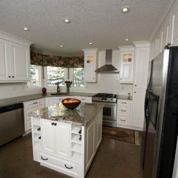Custom White Kitchen Cabinets Calgary