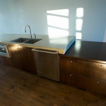 Dark Oak Custom Kitchen Island