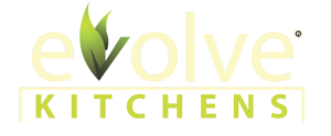 Evolve Kitchen Cabinets' logo.