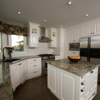 White Kitchen Custom Made in Calgary